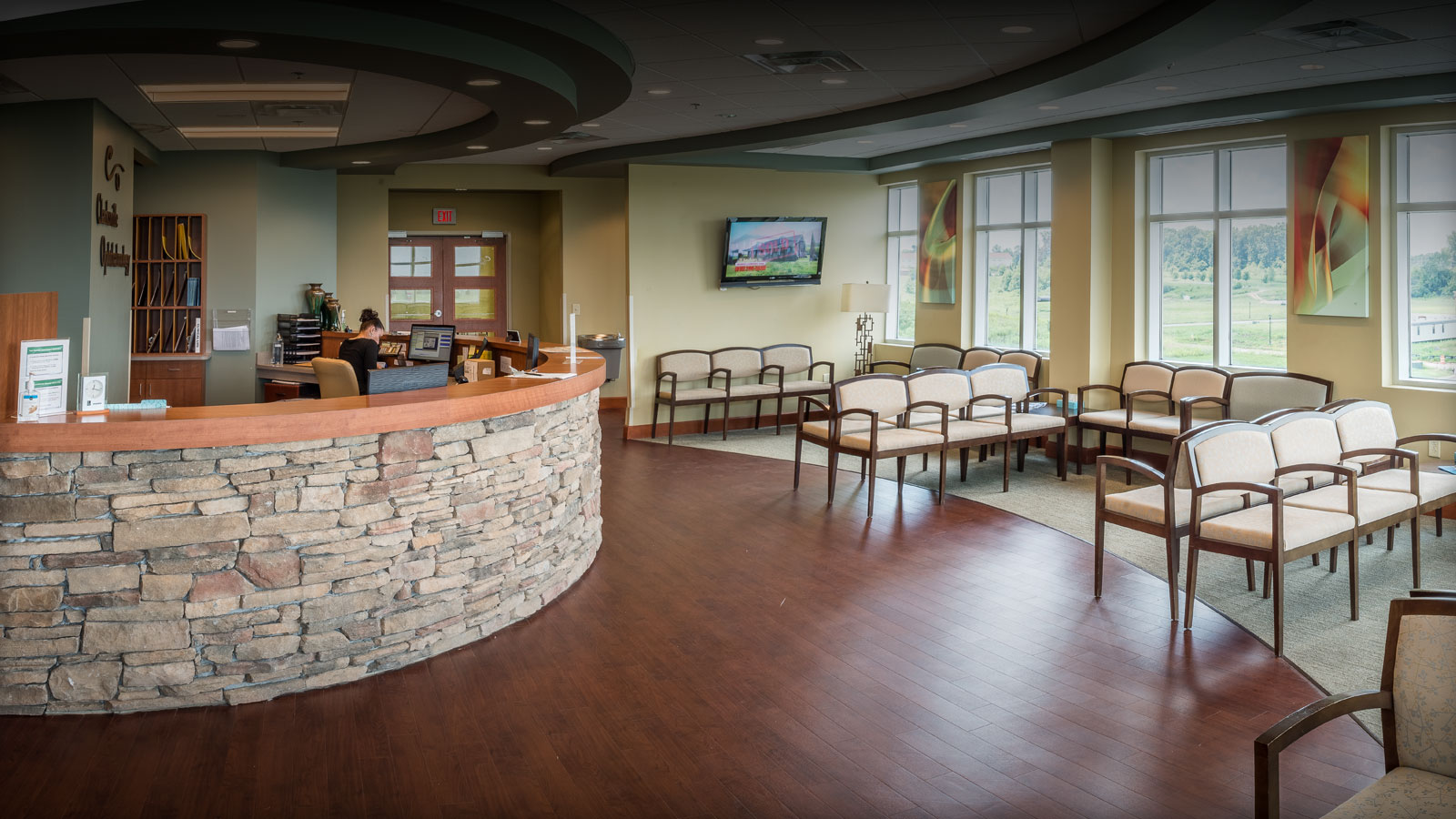 Patient Wating Room at Chesapeake Center Medical Office with Surgery Center Building