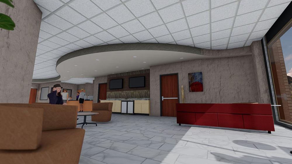 Computer Rendering of Cool Springs, TN Plastic Surgery Center Lobby