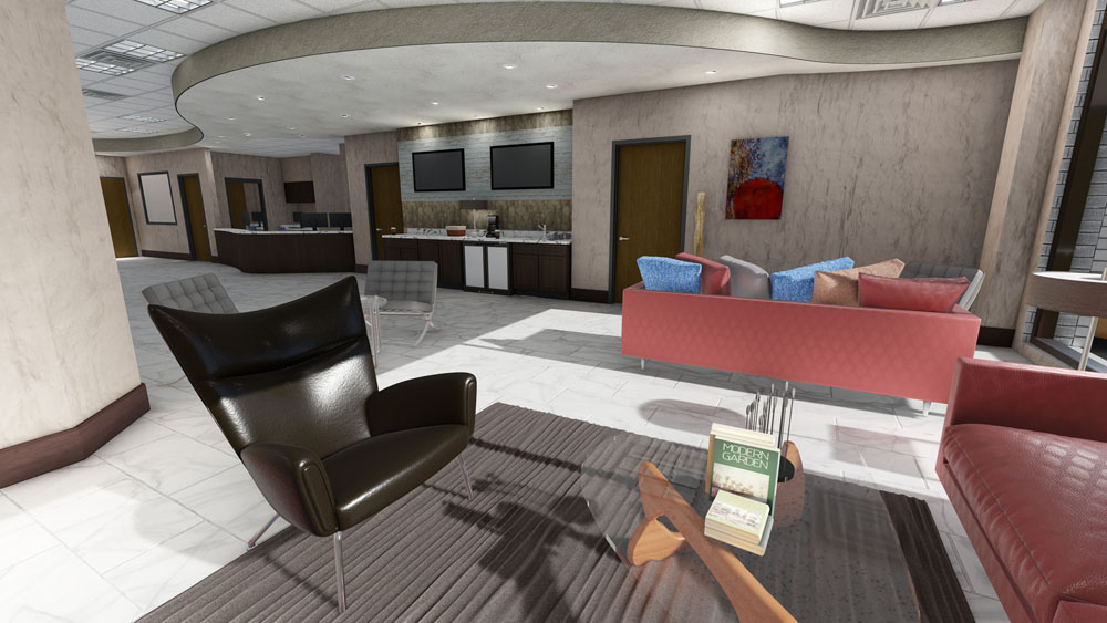 Computer Rendering of Dr. Moore Medical Office Interior