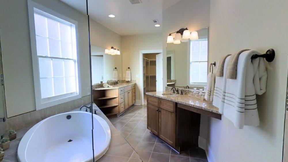 Modern Master Bathroom with Soaker Tub at 1401 61st Street, Nashville, TN