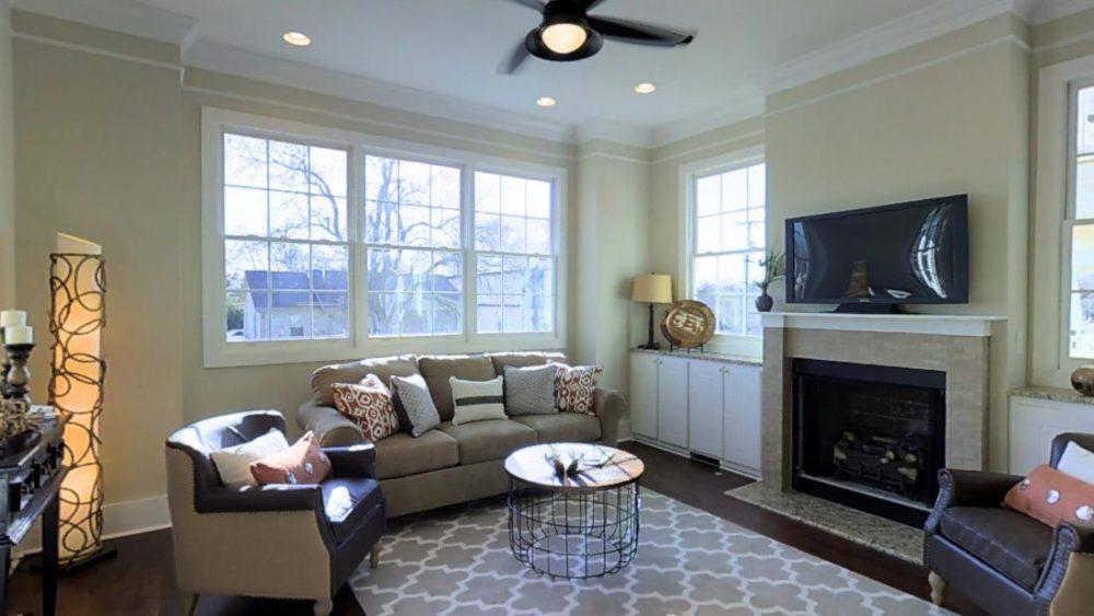 View Through the Living Room Windows at 1401 61st Street, Nashville, TN
