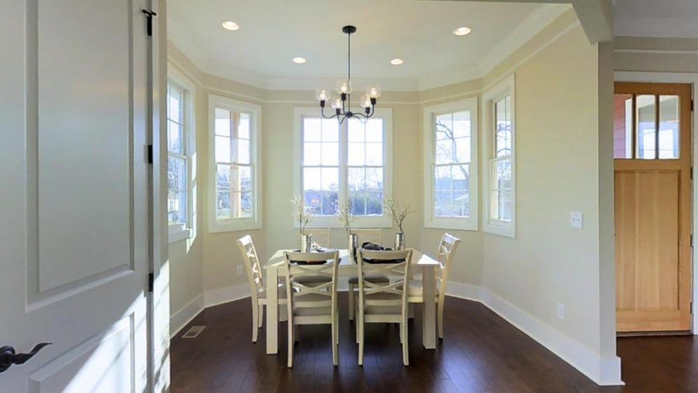 Modern White Dining Room at 1401 61st Street, Nashville, TN