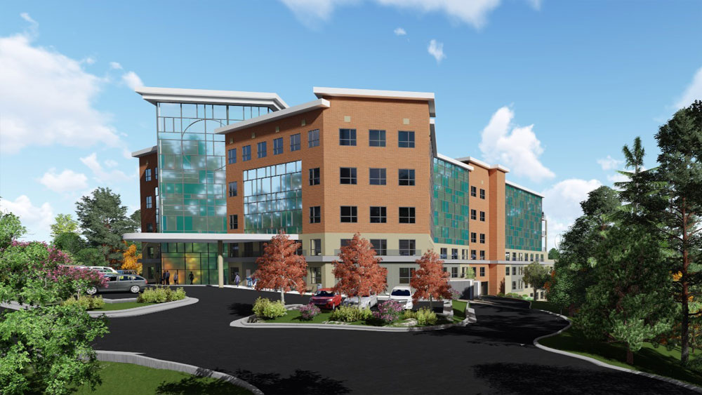 Computer Rendering of Exterior of Legends View Medical Office Building, by The Innovations Group