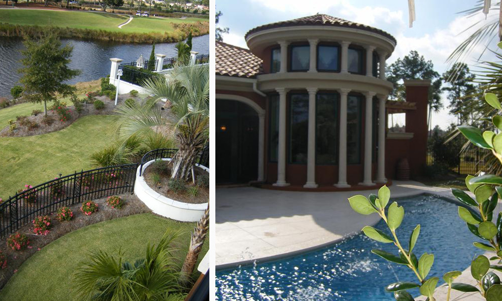 Beautifully Landscaped Backyard and Pool Area, Private Residence by The Innovations Group
