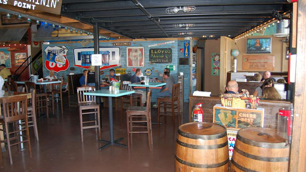 road trip themed restaurant retail interior