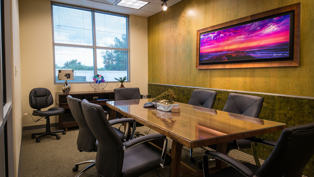 Modern conference room in commercial healthcare facility; property by The Innovations Group