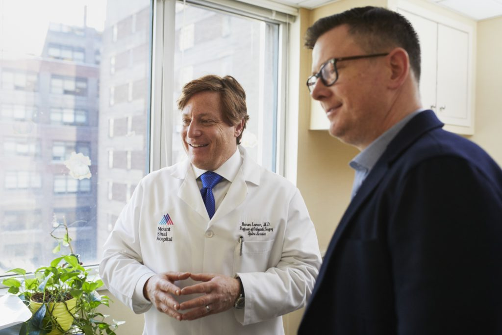Mount Sinai Hospital Doctor and businessman talking